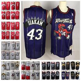 melhores camisas de basquete Desconto Cith EditionTorontoRaptors Serge Ibaka 9 Kyle Lowry 7 a melhor qualidade Pascal Siakam 43 Fred Vanvleet 23 Basketball Jerseys