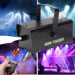 Fogger maschinenstadium online-Mini-LED RGB drahtloser 400W Nebel Rauch-Nebel-Maschine-Stadiums-Effekt-Disco DJ Party Weihnachten mit Fernbedienung fogger LED