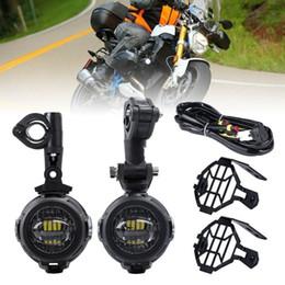 Luces de conducción de bmw online-FADUIES Motocycle Luces de niebla para BMW Motocicleta LED Luz antiniebla auxiliar Lámpara de conducción para BMW R1200GS / ADV K1600 R1200GS R1100GS