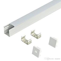 2m bar licht online-2 m LED-Steckplatz, eingebettetes Aluminiumprofil für Streifen 5050 5630, milchige transparente Abdeckung 12 mm Platine für LED-Balken und LED-Streifen