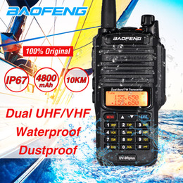 walkie-talkie baofeng Desconto Rádio Baofeng UV9R Além disso Walkie Talkie 10W High Power Two Way Waterproof UV9R Dual Band VHF UHF CB Ham Amateur Radio Transceiver