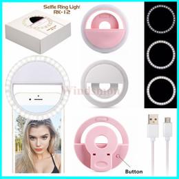 Argentina USB universal del teléfono inteligente clip portable recargable Fotografía Vídeo Webcast aro de luz LED de luz LED de DHL selfie Suministro