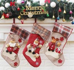 2019 acryl urlaub baum 3 Arten-neue Ankunfts-Weihnachtsstrumpf-Dekor-Verzierungs-Partei-Dekorations-Sankt-Weihnachtsstrumpf-Süßigkeits-Socken sackt Weihnachtsgeschenk-Tasche ein