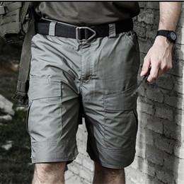 männliche taktische hose Rabatt Männer Tactical Cargo Shorts Wasserdichte Camouflage Outdoor Camping Klettern Wandern Jagd Trekking Männliche Hosen