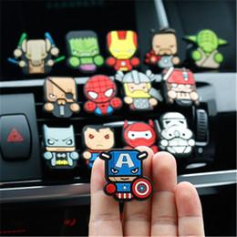 The Avengers Air Freshener Car Vents Parfum Superman Iron man Car Styling Parfum Marvel Figurines Auto Parfum ? partir de fabricateur