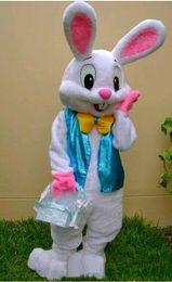 2019 conejito conejo marioneta 2018 de alta calidad trajes de muñecas de dibujos animados de conejito de Pascua para el disfraz de muñeca de animal gente linda de conejo camina a través de la mascota de disfraces de marionetas conejito conejo marioneta baratos