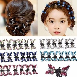 99738eb2ff0a6 12pcs Rhinestone Butterfly Small Claw Hairpins Hair Accessories Ornaments  Clips Hairgrip For Women Girls Kids