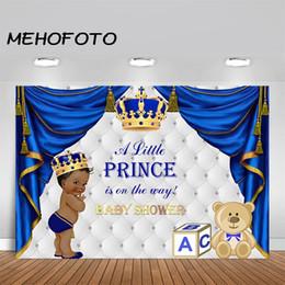 2019 королевский фон МЕХОФОТО королевский принц Золотая Корона Африка американский ребенок душ фотография фон королевский синий занавес фото фоны дешево королевский фон