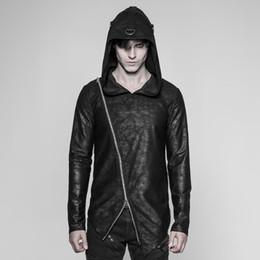 Мужчины онлайн-Punk Rave Men's Punk Faux Leather Hoodie OT-532WYM