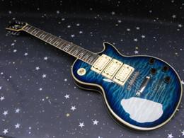 Подпись гитарных звукоснимателей онлайн-Огненный лучший цельный шеи Ace Frehley подпись 3 звукоснимателя электрогитара бесплатная доставка