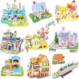 3D bricolage puzzle château modèle maison de dessin animé se réunissant papier jouet enfant apprentissage précoce construction modèle cadeau enfants maison puzzle ? partir de fabricateur