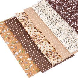 20538afb96 Barato Tecido Hoomall 7 PCs 25x25 cm Série Floral Tecido De Algodão Pano De  Bonecas DIY Quilting Quarters Plain Patchwork Tecidos de Costura pacote ...