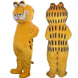 barato adulto animal trajes Desconto Barato Animal Garfield Cat Mascot Costume Vestido Adulto Tamanho