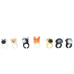 bague de chien en plastique Promotion 2019 plus mignon à la mode en plastique de haute qualité anneau de chien jouets pour adultes enfants cadeaux