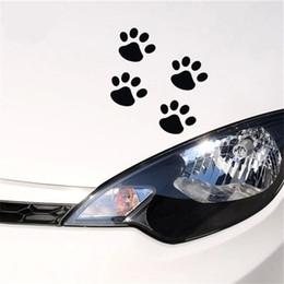 decalques da janela de carro do cão adesivos Desconto 4 Pcs Footprints Dog Paws Panda Pegadas Decalques Adesivos de Carro Car Window Bumper Body Personalidade Adesivos Fun
