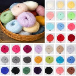 Lã de fio de crochê on-line-DIY 25g / bola Angola sentimentos amorosos fino fio de lã de mohair de pelúcia lã fina linha de crochê tricô mão tecido WX9-1290
