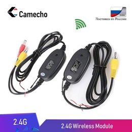 receivers wireless camera kit Coupons - Camecho 2.4Ghz Wireless RCA Video Transmitter & Receiver Kit Rear View Camera for Car Rearview Monitor FM Transmitter & Receiver