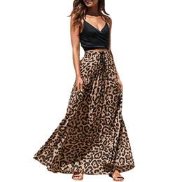 gothic lange röcke frauen Rabatt Sommer lange Röcke Womens 2019 Gothic Leopard Print Maxi Röcke für Frauen koreanische hohe Taille Rock Faldas Mujer Moda 2019