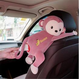 Auto delle scimmie online-2019 più nuovo modo caldo creativo cartone animato tovagliolo di carta scatola del tessuto caso carino animali scimmia stili scatola di tessuto auto