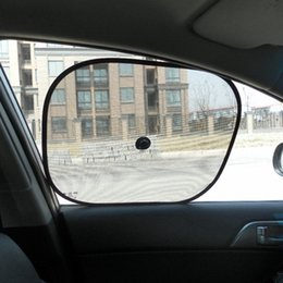 2019 sombra para janelas do carro 1pair malha Sun Window Shade Side Acessórios dobrável Universal Car Cortina Stopper Proteção do bebê de isolamento térmico sombra para janelas do carro barato