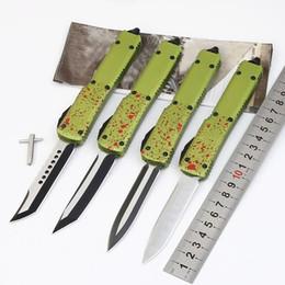cuchillos hechos a medida Rebajas Cuchillo automático New Zombie tech UT70 D2 asa de aluminio campamento supervivencia al aire libre Cena de caza EDC Cuchillo de cocina herramienta táctica