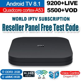 youtube media Rabatt Xiao Mi TV-Box S Android TV 8.1 Smart TV-Box 2G + 8G Media Player Google Youtube BT Dual-Band WIFI IPTV-Abonnement