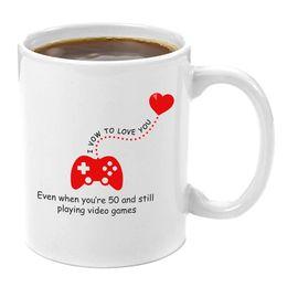 Je fais le vœu de t'aimer | Cadeau de tasse à café de qualité supérieure 11oz - Cadeaux rigolos pour joueurs, cadeaux de fantaisie pour ordinateur ? partir de fabricateur