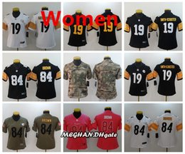 Women Pittsbrgh Steelers American Football Jersey 84 Antonio Brown 19 JuJu  Smith-Schuster Color Rush Stitching Jerseys 4fa95d4d6