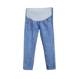 Pantalones vaqueros de maternidad para mujeres embarazadas Embarazadas Pantalones de mezclilla pantalones casuales de gran tamaño ajustables Ropa de maternidad Ocio Pantalones de enfermería desde fabricantes