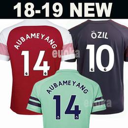 jerseys de fútbol 14 Rebajas 18 19 Arsenal Soccer Jersey Hombres Mujeres Niños Kits 14 AUBAMEYANG 10 OZIL 9 LACAZETTE 11 TORREIRA 8 RAMSEY IWOBI MKHITARYAN 2018 Camisetas de fútbol