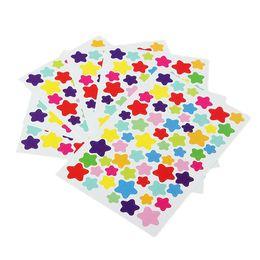 Этикетки онлайн-1 упаковка = 6 листов Красочные свежие точки Сердце наклейка с наклейками в виде звезды