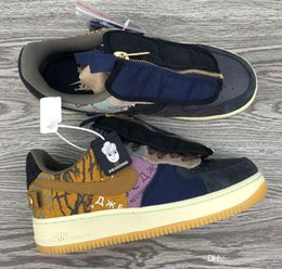 Travis Scott x Air Force 1 TS Jointly AF1 Ghost face splicing air force Casual shoes running shoes basketball shoes CN2405 900