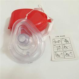 Canada Enfant adulte Premiers soins Réanimateur Rescue Poche de secours pour masque de RCR avec valve de respiration à sens unique Outil de sauvetage d'urgence Offre