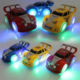 Детские музыкальные игрушки Транспортные средства для детей Препятствие Автоматическое рулевое управление Мигающий светящийся гоночный автомобиль Детские развивающие игры Подарок ESS244 от