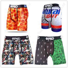 2019 calças justas Mens Quick Dry Boxers PSD Underwear Cueca Mens Male Sports Skate Rua Roupa interior Hip Hop longo trecho Boxer Briefs C111901