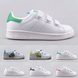 Infants Shoes Children Stan Smith Superstar Girls Child Boys Baby Kids Skateboarding Shoes Casual Carton Smith Sport Shoes Size 24 35