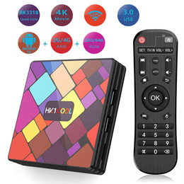 Крутой тв онлайн-Hk1 Прохладный RK3318 Quad Core Android 9.0 TV Box 4G 64G 4K Set Top Box 2.4G5G WiFI Media Player