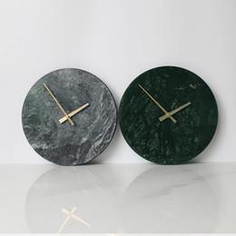 decoração moderna relógios de parede Desconto Relógio de mármore Design Moderno e Minimalista Relógios de Parede Cozinha Arte Personalidade Relógio de Parede Nórdico Acessórios de Decoração Para Casa