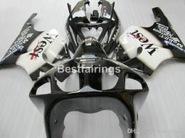 kawasaki zx7r kits de carenado Rebajas Kit de carenado de plástico de alta calidad para Kawasaki Ninja ZX7R 1996-2003 kits de carenados blanco negro ZX7R 96-03 TY66