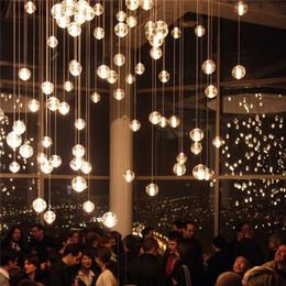 ciondoli di illuminazione meteore Sconti LED Crystal Glass Ball Pendant Meteor Rain Plafoniera Meteorico Doccia Scale Bar Droplight Lampadario Illuminazione AC110-240V