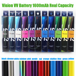 cigarette twist Promo Codes - Top Vision Spinner 2 II 1600mAh ego C Twist Vision2 Battery VV Variable Voltage Adjustable e Cigs Cigarettes Atomizers Cartridges Vape Pen
