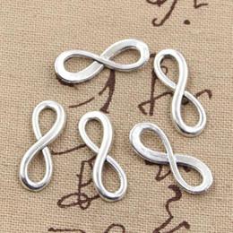 infinity symbol silber halskette Rabatt Wholesale- 30pcs Charme Unendlichkeitssymbol Anschlüsse 23 * 8mm Antik Reize Anhänger fit, Jahrgang Tibetischen Silber, DIY für Armbandhalskettenart-