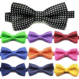 2019 pajarita punteada polca 18 colores estilo británico bebé corbata niños lunares corbata moda niños corbata linda niños calientes ajustable pajarita C5935 pajarita punteada polca baratos
