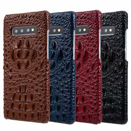 caixa de nota de couro de crocodilo Desconto Designer de luxo cabeça de crocodilo couro genuíno case para samsung s10 s9 s8 nota 9 tampa traseira para o iphone x xr xs max 8 7 6 6 s plus mate 20 pro