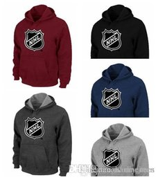 Gioventù nera con cappuccio online-2018 - 19 Hot NHL Team Logo Pullover Felpe con cappuccio per uomo donna gioventù Nero Rosso Blu Gary Dark Gark Pullover Felpa con cappuccio Top Quality