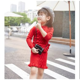 4819aa0d98 2019 spring autumn new sweater+Knitted skirt 2 pcs baby girls clothes set  beautiful flouncing children kids clothing suit on sale