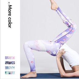 печатная одежда Скидка Павлин серии йога брюки женские фитнес одежда спортивные 3D печатные брюки эластичные брюки