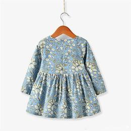 Directo de fábrica 3-8 años vestidos de niña occidental ropa de primavera florales niños niñas traje niños vestidos desde fabricantes