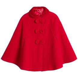 Canada 35% laine filles manteau pour automne hiver col de fourrure noeud bouton élégant grandes filles manteau enfants veste vêtements supplier elegant kids clothes Offre