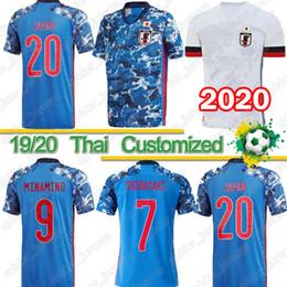 font camisa de futebol Desconto Thai Japão camisa de futebol 2020 2021 de futebol uniforme número treino de banda desenhada fontes 10 DESENHOS ANIMADOS NÚMERO Jersey 18 qualidade 19 Thailand topo